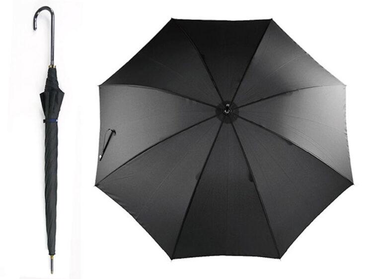 Oμπρέλα μεγάλη μονόχρωμη μαύρη