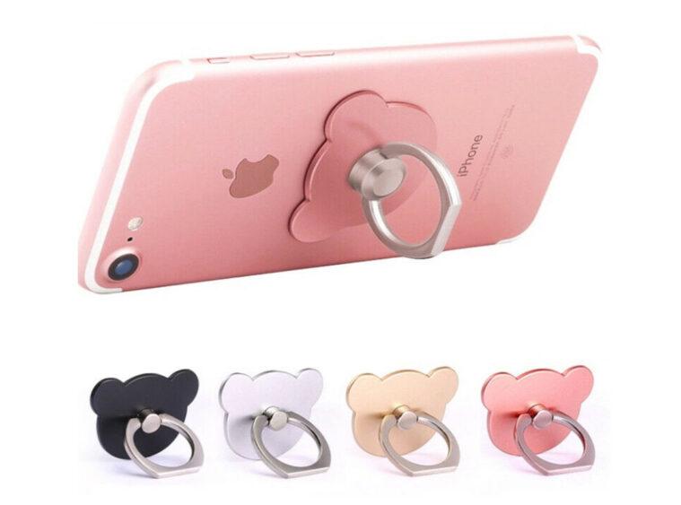 Δακτυλίδι & βάση στήριξης κινητού αρκουδάκι