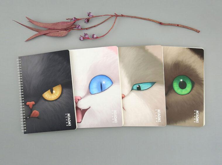Τετραδιο Β5 σπιραλ cat face